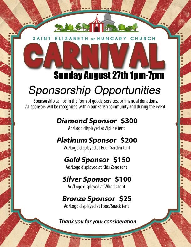 Carnival Sponsorship Opportunities